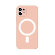 Kryt pro Apple iPhone 11 - MagSafe magnety - silikonový - s kroužkem - růžový