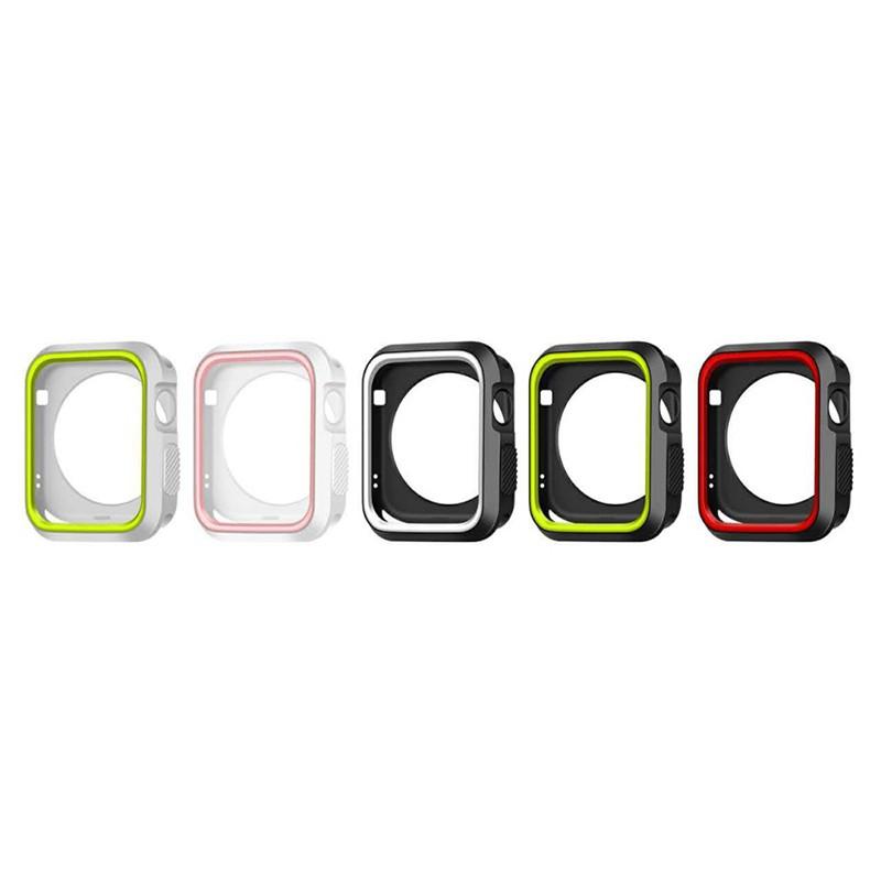 Kryt / rámeček pro Apple Watch 42mm 1 / 2 / 3 series - sportovní - silikonový - černý / bílý