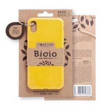 Kryt FOREVER BIOIO - pro Apple iPhone Xs Max - Zero Waste kompostovatelný kryt - žlutý