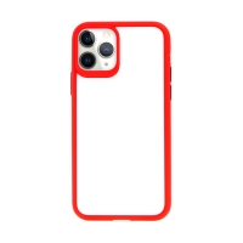 Kryt USAMS Janz pro Apple iPhone 11 Pro Max - plastový / gumový - průhledný / červený