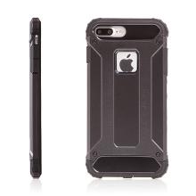 Kryt pro Apple iPhone 7 Plus / 8 Plus plasto-gumový / antiprachová záslepka - černý