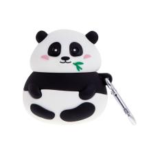 Pouzdro pro Apple AirPods - poutko / karabina - silikonové - buclatá panda