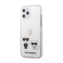 Kryt KARL LAGERFELD Karl a Choupette pro Apple iPhone 12 Pro Max - plastový / gumový - průhledný