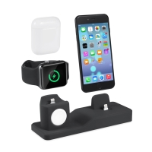 Nabíjecí stanice / stojánek pro Apple iPhone + AirPods + Watch - silikonový
