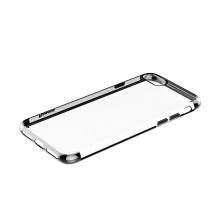 Kryt BASEUS pro Apple iPhone 7 / 8 - gumový - průhledný / kovově šedý