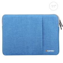 "Pouzdro se zipem HAWEEL pro Apple iPad 11"" - látkové - modré"