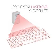 Laserová virtuální projekční klávesnice bluetooth 3.0