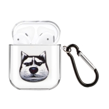 Pouzdro / obal pro Apple AirPods - gumové - buclatý husky