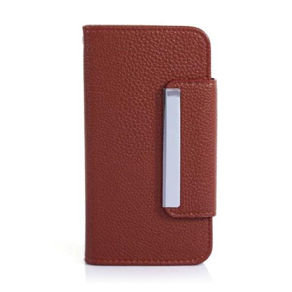 Ochranné pouzdro ve stylu peněženky s magneticky upevňujícím plastovým  krytem a klipem pro Apple iPhone 6 26472a0c781