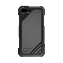 Pouzdro / kryt pro Apple iPhone 7 / 8 Plus - odolné - tvrzené přední sklo - výměnné objektivy - hliník / silikon - černé