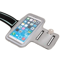 Sportovní pouzdro pro Apple iPhone 6 Plus / 6S Plus - reflexní pruh - stříbrné