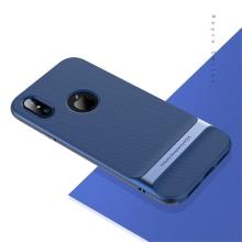 Kryt ROCK Royce pro Apple iPhone X - gumový / plastový - modrý