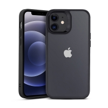 Kryt ESR Hybrid pro Apple iPhone 12 mini - plastový / gumový - průhledný / černý