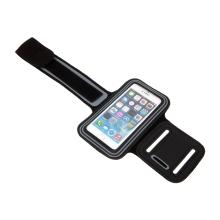 Sportovní pouzdro pro Apple iPhone 4 / 4S - reflexní pruh - černé