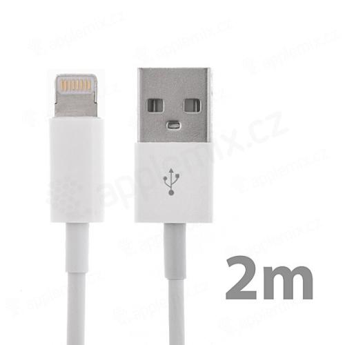 Synchronizační a nabíjecí kabel Lightning pro Apple iPhone / iPad / iPod - bílý