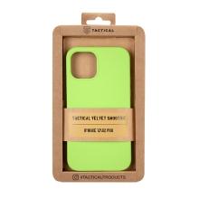 Kryt TACTICAL Velvet Smoothie pro Apple iPhone 12 / 12 Pro - příjemný na dotek - silikonový - avokádově zelený