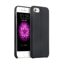 Kryt USAMS pro Apple iPhone 7 / 8 - umělá kůže - černý