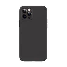 Kryt USAMS pro Apple iPhone 12 Pro - MagSafe kompatibilní - příjemný na dotek - silikonový - černý