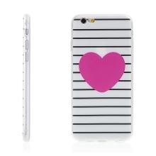 Kryt pro Apple iPhone 6 / 6S - jemná povrchová struktura / gumový - růžové srdce