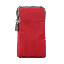 Brašna / pouzdro - multifunkční - popruh za opasek / přes rameno + karabina pro Apple iPhone - červená