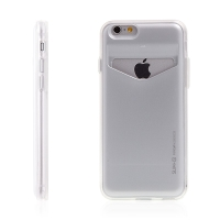 Pouzdro MERCURY Slim +S pro Apple iPhone 6 / 6S - prostor pro platební kartu - plast / guma
