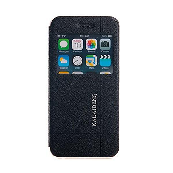 Ochranné pouzdro Kalaideng pro Apple iPhone 6 / 6S se stojánkem a průhledným prvkem / výřezem pro displej - černo-bílé