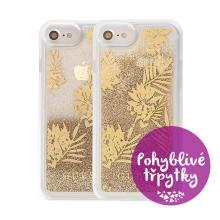 Kryt GUESS Palm Spring Gold pro Apple iPhone 6 / 6S / 7 / 8 - plastový - glitter / zlaté třpytky