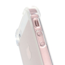 Kryt pro Apple iPhone 5 / 5S / SE - zesílené rohy - plastový / gumový - průhledný