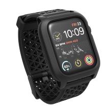Kryt / pouzdro UAG pro Apple Watch 44mm Series 4 / 5 / 6 / SE - celotělové + řemínek - plast / silikon - černý