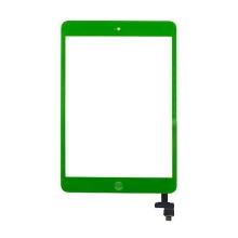 Dotykové sklo (touch screen digi) + IC konektor a flex s Home Buttonem pro Apple iPad mini / mini 2 (Retina) - zelené