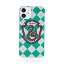 Kryt Harry Potter pro Apple iPhone 12 mini - gumový - emblém Zmijozelu