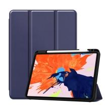 """Pouzdro pro Apple iPad Pro 12,9"""" (2018) / 12,9"""" (2020) - stojánek + prostor pro Apple Pencil - tmavě modré"""