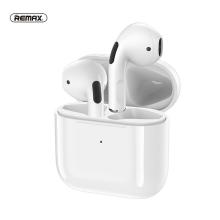 Sluchátka Bluetooth bezdrátová REMAX TWS-10 - True wireless - s dobíjecí krabičkou - pecky - bílá
