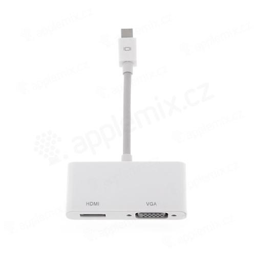 2v1 Redukce Mini DisplayPort (Thunderbolt) na HDMI a VGA