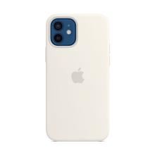 Originální kryt pro Apple iPhone 12 / 12 Pro - silikonový - bílý