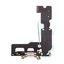 Napájecí a datový konektor s flex kabelem + GSM anténa + mikrofony pro Apple iPhone 7 Plus - bílý - kvalita A+