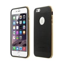 Gumové kryty LOVE MEI AEGIS (sada 2ks) pro Apple iPhone 6 / 6S + zlatý (champagne) oddělitelný rámeček