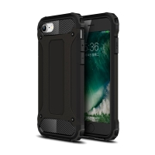 Kryt pro Apple iPhone 7 / 8 / SE (2020) - plastový / gumový - záslepka - černý