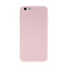 Kryt MERCURY pro Apple iPhone 6 Plus / 6S Plus - silikonový - příjemný na dotek - pískově růžový