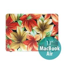 Obal / kryt pro MacBook Air 13 (A1369,A1466) - plastový - barevné květy lilie