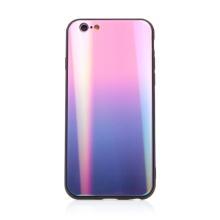 Kryt pro Apple iPhone 6 / 6S - sklo / guma - růžový / černý