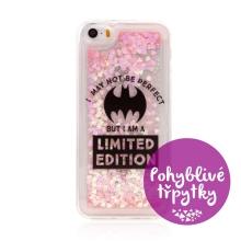 Kryt DC COMICS pro Apple iPhone 5 / 5S / SE - pohyblivá srdíčka - gumový - Batman Bat Girl