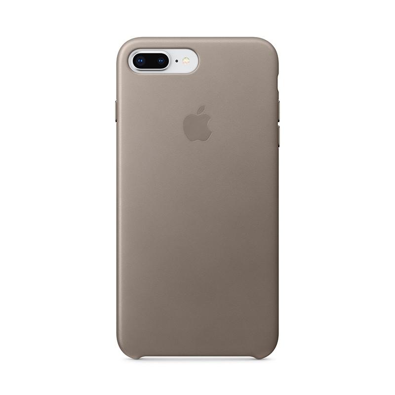 Originální kryt pro Apple iPhone 7 Plus / 8 Plus - kožený - kouřový
