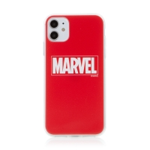Kryt MARVEL pro Apple iPhone 11 - gumový - červený
