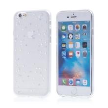 Kryt pro Apple iPhone 6 / 6S - gumový - průhledný / hvězdy a třpytky