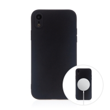 Kryt pro Apple iPhone Xr - MagSafe magnety - silikonový - černý