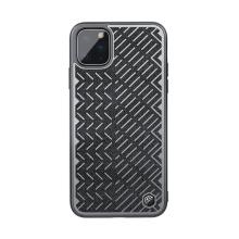 Kryt NILLKIN Herringbone pro Apple iPhone 11 Pro Max - reflexní prvky - gumový / látkový - šedý