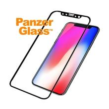 Tvrzené sklo (Tempered Glass) PANZERGLASS pro Apple iPhone X - 3D hrana - černé - 0,4mm