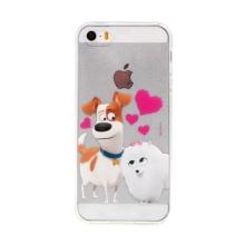 """Kryt """"Tajný život mazlíčků"""" pro Apple iPhone 5 / 5S / SE - motiv psů - průhledný"""