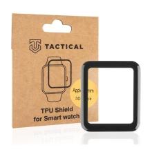 Ochranná 3D fólie TACTICAL pro Apple Watch 42mm Series 1 / 2 / 3 - černá / čirá